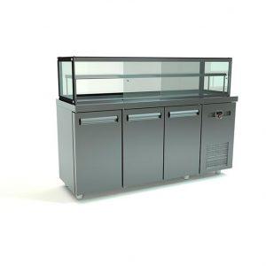 Επαγγελματικό ψυγείο με ψυχώμενη βιτρίνα