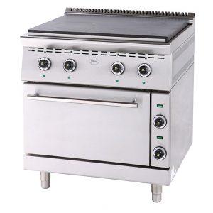 Ηλεκτρική κουζίνα εστίες με φούρνο