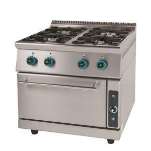 Κουζίνα αερίου 4 εστίες με φούρνο