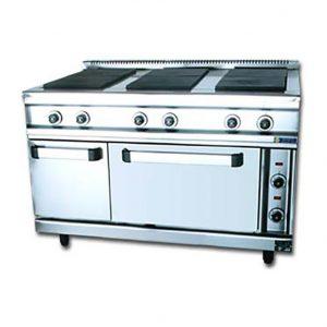 Κουζίνα ηλεκτρική 6 εστίες με φούρνο και ερμάριο