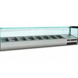 Ψυγείο Πίτσας Βιτρίνα Επιτραπέζιο, για επιχειρήσεις εστίασης, κατάλληλο για τη φύλαξη πίτσας και άλλως τροφίμων