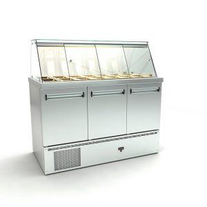 Ψυγείο σαλατών με το μοτέρ κάτω